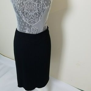NWT■BCBG Black Skirt